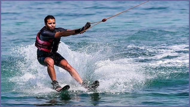اسکی روی آب با قایق