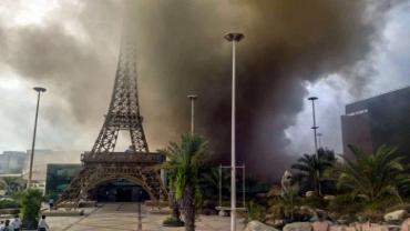 آتش سوزی بازار پردیس ۱ جزیره کیش