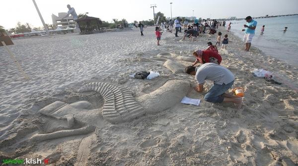 رد پای هنر در سواحل ماسه ای جزیره کیش