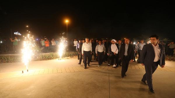 افتتاح دو پارک ساحلی نیلوفر و هور با حضور دبیر شورایعالی