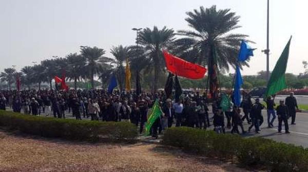 پیاده روی جاماندگان از اربعین حسینی در کیش برگزار شد