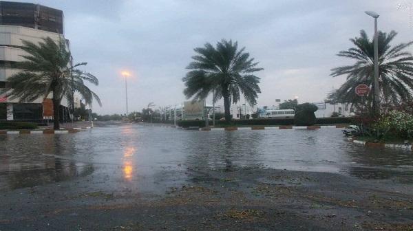 رکوردشکنی بارش باران در جزیره کیش