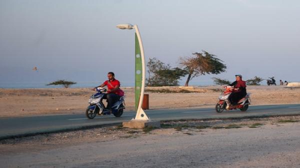 ساماندهی موتورسیکلت های شارژی در کیش