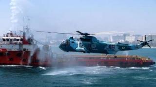 مانور جستجو و نجات دریایی در کیش برگزار شد